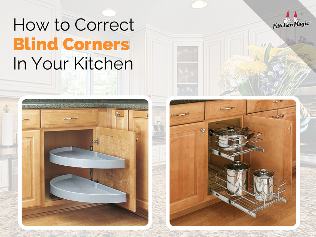 How to correct blind corners in your kitchen for Blind corner kitchen cabinets