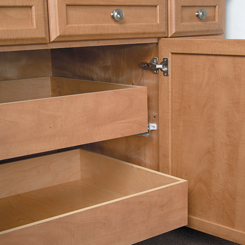 Roll Out Cabinet Drawers Will Double Your Storage Space
