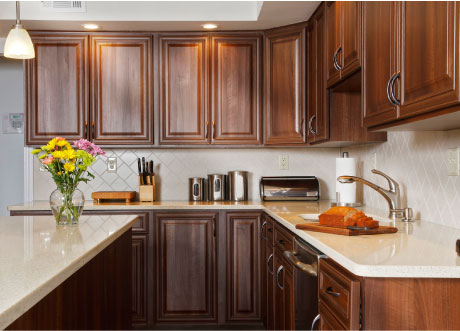 walnut kitchen cabinets granite countertops form and function custom countertop trends 8902