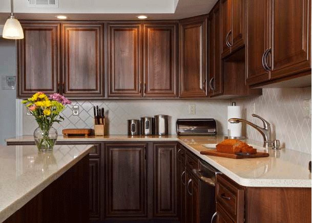 how to pair countertop colors with dark cabinets 2135