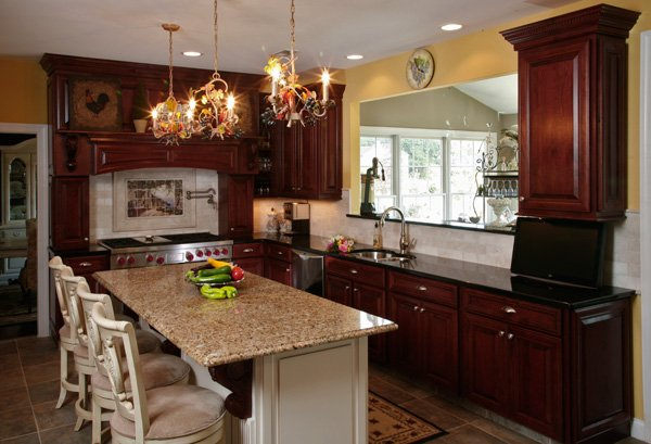 Cherry Cabinets And Granite