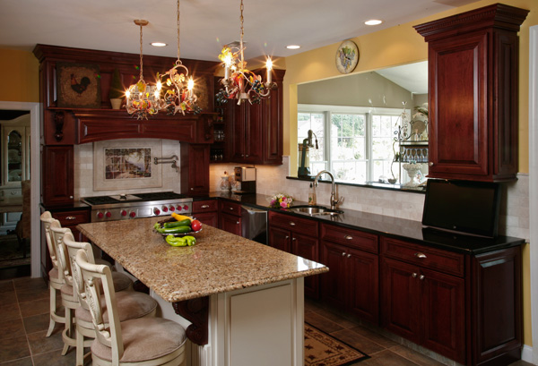Cherry Kitchen Cabinets Black Granite what granite countertop color looks best with cherry cabinets