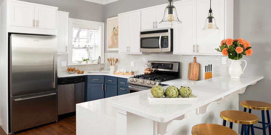 white-blue-two-toned-shaker-kitchen